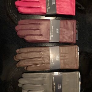 FOUR (4) Pairs MARKS & SPENCER leather gloves